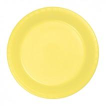 """20 צלחות פלסטיק """"9 - צהוב"""