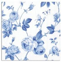 מפיות גדולות פרחים כחולים
