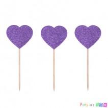 טופרים לבבות סגולים