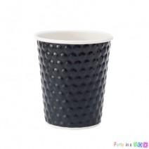 כוסות נייר בועות - שחור