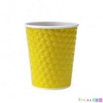 כוסות נייר בועות - צהוב