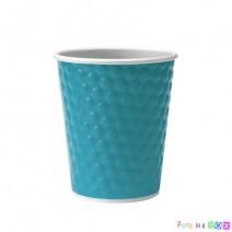 כוסות נייר בועות - טורקיז
