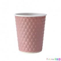 כוסות נייר בועות - ורוד קלאסי