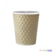 כוסות נייר בועות - קרם