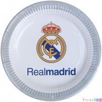 צלחות קטנות ריאל מדריד לוגו
