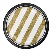 צלחות קטנות Black & Gold