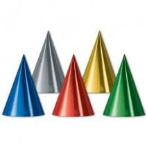 כובעי מסיבה מטאליים צבעוניים