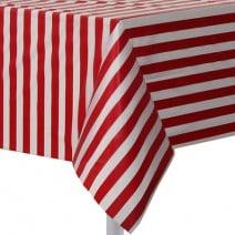 מפת שולחן אדום פסים