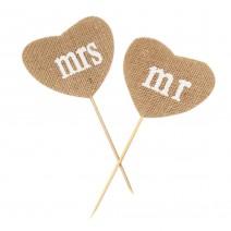 טופרים לבבות יוטה Mr & Mrs