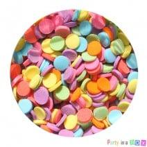 סוכריות עיגולים צבעוניים