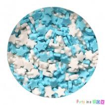 סוכריות כוכבים תכלת לבן