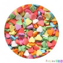סוכריות לבבות צבעוניים