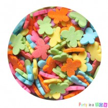 סוכריות פרפרים צבעוניים