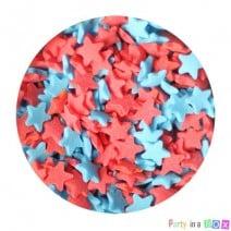 סוכריות כוכבים אדום כחול