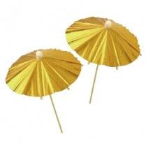 מטריות קוקטייל זהב