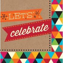מפיות גדולות Let's Celebrate