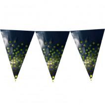 שרשרת דגלים שחור נקודות זהב