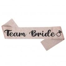 סרט רוז גולד Team Bride