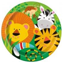 צלחות גדולות חגיגה בג'ונגל