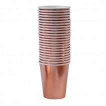 כוסות נייר רוז גולד