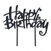 טופר מראה Happy Birthday שחור