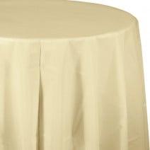 מפת שולחן עגולה - קרם
