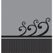 מפת שולחן אפור פרחים