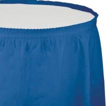 חצאית שולחן כחול אמיתי