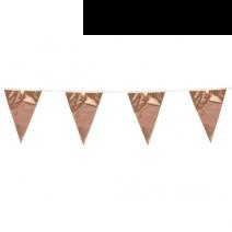 שרשרת דגלים מטאלית רוז גולד