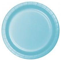 """24 צלחות נייר """"9 - כחול פסטל"""