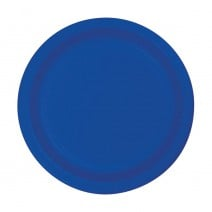 """24 צלחות נייר """"7 - כחול"""
