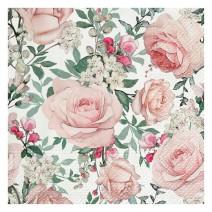 מפיות גדולות ורדים בגינה