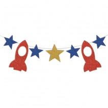 שרשרת כוכבים וחלליות גליטר