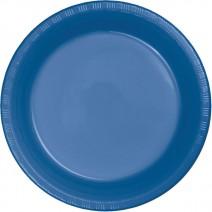 """25 צלחות פלסטיק """"10 - כחול נייבי"""