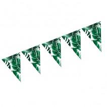 שרשרת דגלים עלים טרופיים