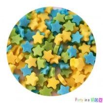 סוכריות כוכבים צהוב תכלת ירוק