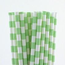 קשיות נייר פסים אופקיים - מנטה