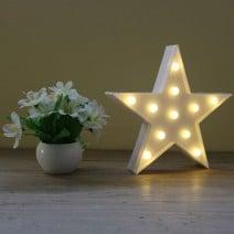 מנורת לד כוכב לבן
