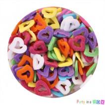 סוכריות לבבות חלולים צבעוניים