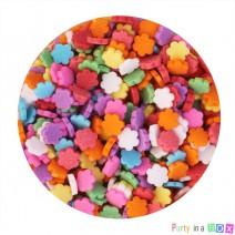 סוכריות פרחים צבעוניים