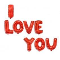 סט בלוני I LOVE YOU אדום