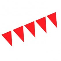 שרשרת דגלים חלקה- אדום