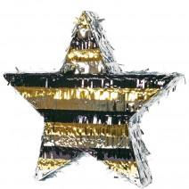 פיניאטה כוכב שחור זהב כסף