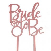 טופר Bride to Be רוז גולד