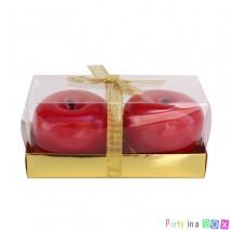 נרות תפוח באריזת מתנה