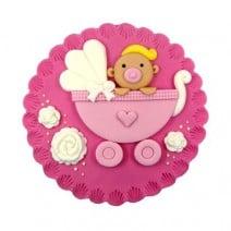 קישוט עגול לעוגה - תינוקת