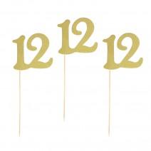 שילוט דקורטיבי לבת מצווה - 12 זהב