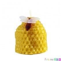 נר חלת דבש עם דבורה