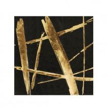 מפיות קוקטייל שחור זהב