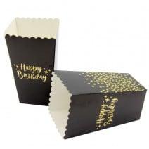 קופסאות פופקורן שחור זהב